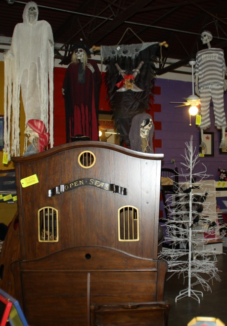 Halloween Decorations Over  Pirate Ship Bunk Beds