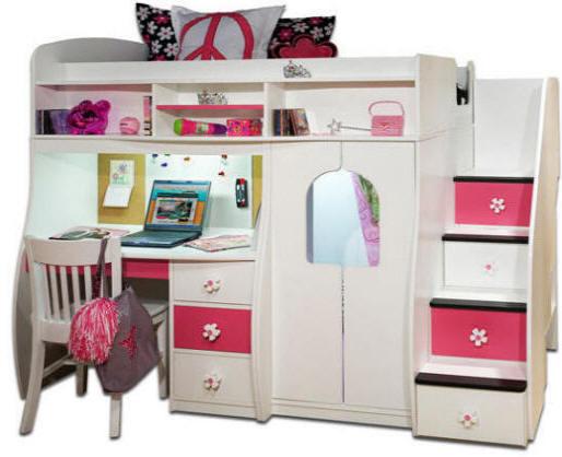 Girl Loft Bed with Secret Room 514 x 418
