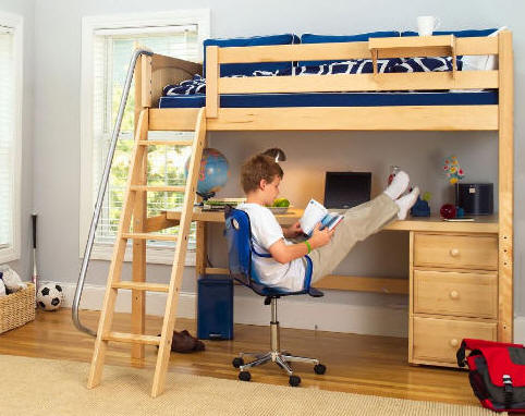 This is a photo of Epic Printable Full Size Loft Bed Plans