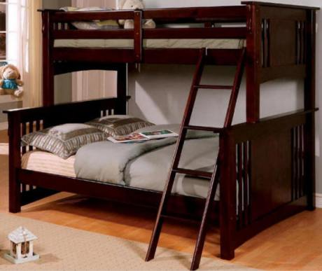 Cleveland Twin over Queen Size Bunk Beds thumb