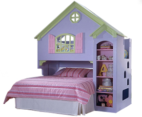 Build Children Dollhouse Loftbunk Bed Woodworking Plans