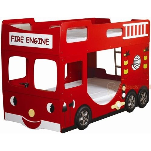 Download Fire truck loft playhouses Plans DIY woodworking project paper plan for playhouse no ...
