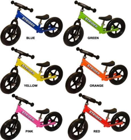 Strider Balance Bike fun colors at Totally Kids fun furniture & toys
