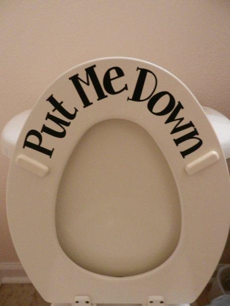 Put Me Down Toilet Seat