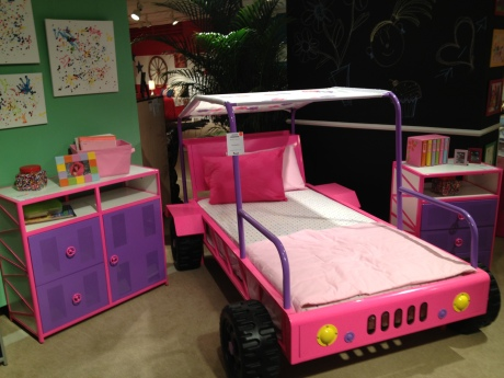 Girl's Car Bed at Totally Kids fun furniture & toys
