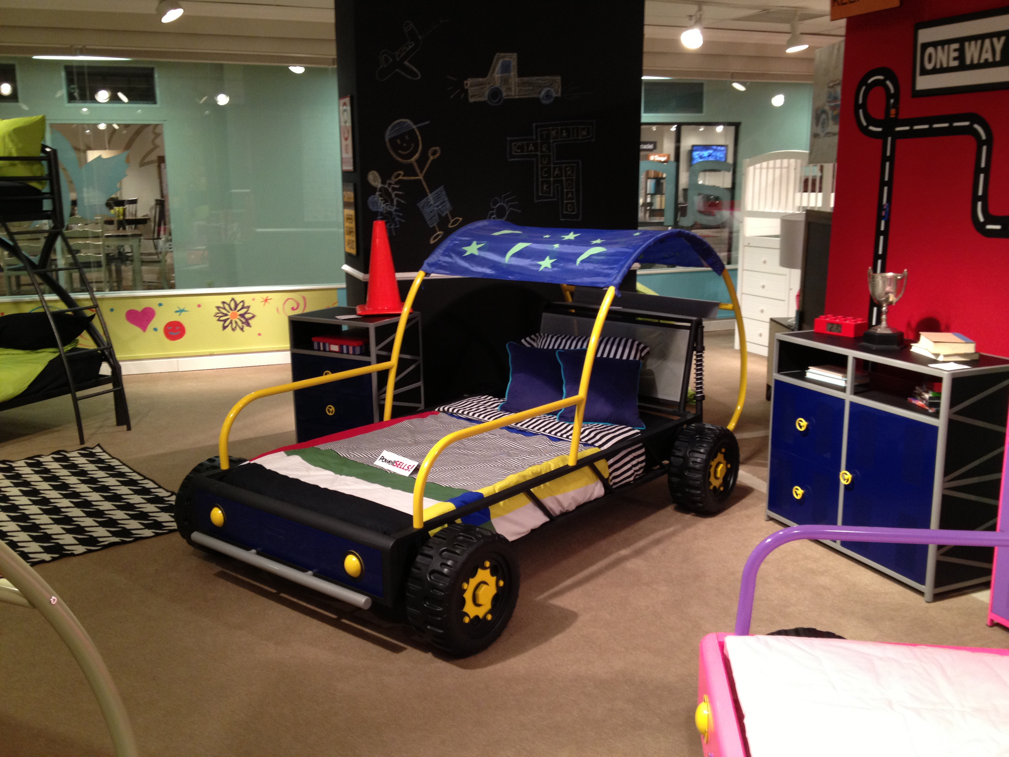 bed shop beds product racing for race white car kids thunder