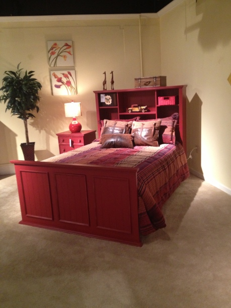 Red Bed at Totally Kids fun furniture and toys