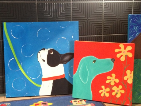 dogs art at Totally Kids fun furniture and toys