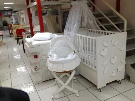 White on white crib