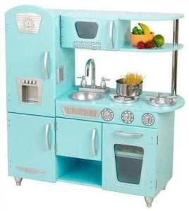 blue retro kitchen at Totally Kids