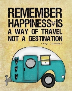 Happiness is not a destination