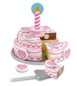 triple layer cake at totally Kids