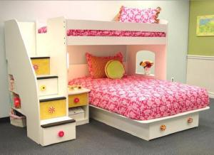 Blythe Stairway Bed at Totally Kids fun furniture and toys