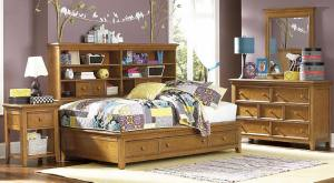 Guthrie Twin Size Big Bookcase Captains Bed at Totally Kids