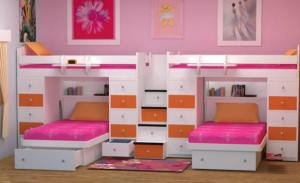 Tangerine Beds for Four at Totally Kids