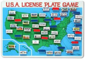 License Plate game at Totally Kids