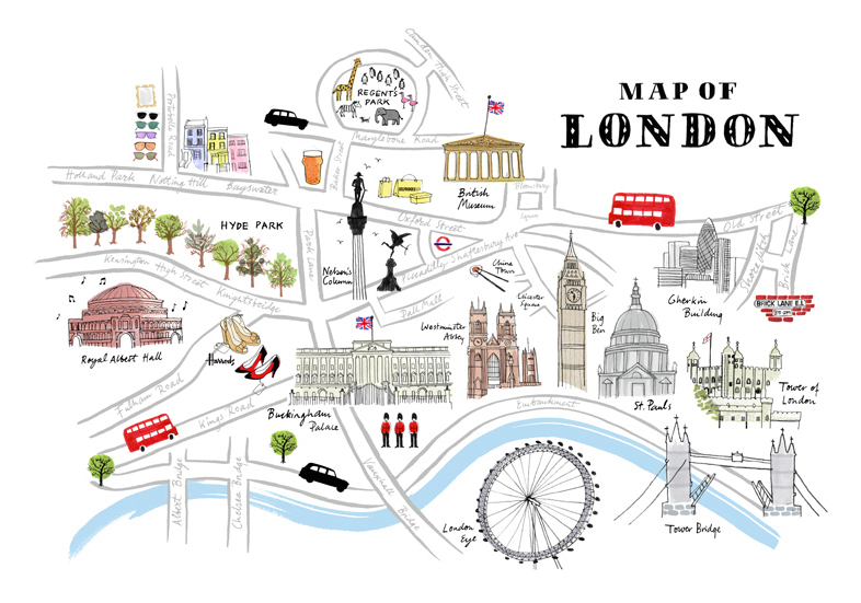 London City Tourist Map images – Tourist Attractions Map In London